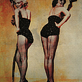 Marilyn Monroe And Jane Russell by Ericamaxine Price