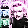 Marilyn Monroe Art Collage by Absinthe Art By Michelle LeAnn Scott