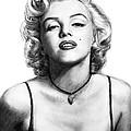 Marilyn Monroe Art Drawing Sketch Portrait by Kim Wang