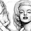 Marilyn Monroe Art Long Drawing Sketch Poster by Kim Wang