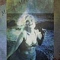 Marilyn Monroe At The Beach by Absinthe Art By Michelle LeAnn Scott