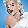 Marilyn Monroe - Blue Backround by Tom Carlton