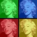 Marilyn Monroe Colored Frame Pop Art by Daniel Hagerman