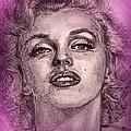 Marilyn Monroe In Pink by J McCombie