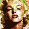 Marilyn Monroe Name Characters by Samuel Majcen