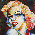 Marilyn Monroe Original Palette Knife Painting by Georgeta Blanaru