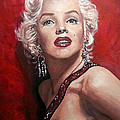 Marilyn Monroe - Red by Tom Carlton