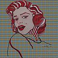 Marilyn Monroe Tartan by Karen Larter