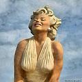 Marilyn Monroe Watercolor by Barbara Snyder