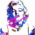 Marilyn Monroe - Watercolor by Doc Braham