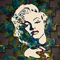 Marilyn Monroe Watercolor Painting by Georgeta Blanaru