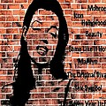 Marilyn On Brick by Saundra Myles