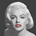 Marilyn Trio Red Lips Blue Eyes by Chris Consani