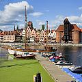 Marina And Old Town Of Gdansk Skyline by Artur Bogacki