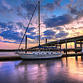 Marina At Sunset by Debra and Dave Vanderlaan
