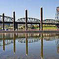 Marina By Willamette River In Portland Oregon by Jit Lim