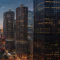 Marina City And A M A Plaza Chicago by Steve Gadomski