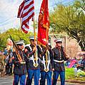 Marine Color Guard - Paint by Steve Harrington