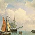 Marine  by Johannes Hermanus Koekkoek