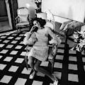 Marisa Berenson Wearing A Forneris Organza Dress by Henry Clarke