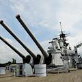 Mark 7 16-inch Gun Barrels On Deck by Stocktrek Images