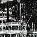 Mark Twain Riverboat Frontierland Disneyland Vertical Sc by Thomas Woolworth