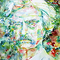 Mark Twain - Watercolor Portrait by Fabrizio Cassetta