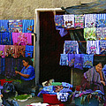 Market At Santiago Atitlan Guatemala by Kurt Van Wagner
