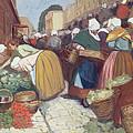 Market In Brest by Fernand Piet
