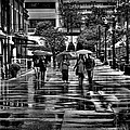 Market Square In The Rain - Knoxville Tennessee by David Patterson
