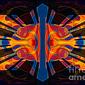 Marking Time Into Space Abstract Spiritual Artwork by Omaste Witkowski