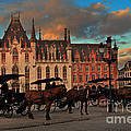 Markt Square At Dusk In Bruges by Louise Heusinkveld