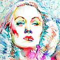 Marlene Dietrich - Colored Pens Portrait by Fabrizio Cassetta