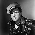 Marlon Brando In The Wild One 1953 by Mountain Dreams