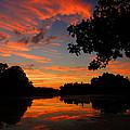 Marlu Lake At Sunset by Raymond Salani III