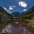 Maroon Bells At Night by Jeff Stoddart