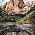 Maroon Bells Colorado - Landscape by Peter Potter