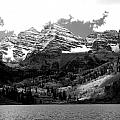 Maroon Bells In Black And White by Breanna Calkins