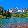 Maroon Bells In Color by Dan Sproul