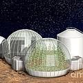 Mars Base, Artwork by Claus Lunau