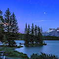 Mars Over Mt. Rundle by Alan Dyer