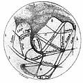 Mars: Schiaparelli, 1877 by Granger