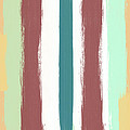 Marsala Stripe- Abstract Pattern Painting by Linda Woods