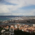 Marseille View From Cathedral Notre Dame De La Garde by Christiane Schulze Art And Photography