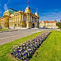 Marshal Tito Square In Zagreb by Brch Photography