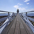 Marshall Point Lighthouse And Walkway by Jack Nevitt