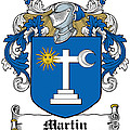 Martin Coat Of Arms Galway Ireland by Heraldry