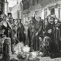 Martin Luther 1483 1546 Publicly Burning The Pope's Bull In 1521  by English School