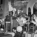 Martin Luther King Jnr 1929 1968 American Black Civil Rights Campaigner In The Pulpit by James Earl Ray