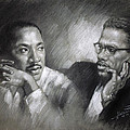 Martin Luther King Jr And Malcolm X by Ylli Haruni